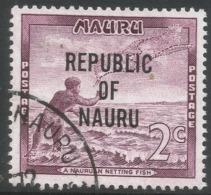 Nauru. 1968 Republic O/P. 2c Used. SG 81 - Nauru