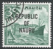 Nauru. 1968 Republic O/P. 3c Used. SG 82 - Nauru