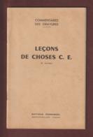 Livret : LECONS DE CHOSES . Année 1959 - édition Rossignol à Montmorillon .Imprimé à Saint Yrieix - 66 Pages - 11 Photo - Sciences & Technique