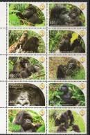 2011 Uganda PAPU Gorillas  Complete Set  Of 20 MNH - Ouganda (1962-...)