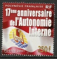 Polynésie Française - Polynesien - Polynesia 2001 Y&T N°644 - Michel N°845 *** - 250f Autonomie Interne - Polynésie Française