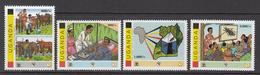 2011 Uganda Disease Prevention Cattle, Sleeping Sickness, Tsetse Flies Set Of 4 MNH - Oeganda (1962-...)