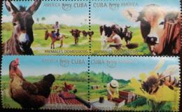 MDA-BK26-542 MINT ¤ CUBA 2018 4w In Serie ¤ BIRDS - BEES - DONKEY - COW - UPAEP - Stamps