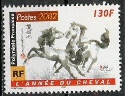 Polynésie Française - Polynesien - Polynesia 2002 Y&T N°656 - Michel N°853 *** - 130f Année Du Cheval - Polynésie Française