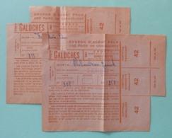 Deux Coupons D'achat Pour Chaussures Ou Galoches - Commune De Moncoutant Dans Les Deux Sèvres - 1939-45