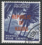 Nauru. 1968 Republic O/P. 5c Used. SG 84 - Nauru