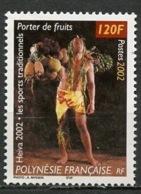 Polynésie Française - Polynesien - Polynesia 2002 Y&T N°670 - Michel N°871 *** - 120f Porteur De Fruits - Polynésie Française