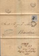 Año 1870 Edifil 107 50m Sellos Efigie Carta  Matasellos Rombo Cartagena  Membrete De Bres Y Pico - Briefe U. Dokumente