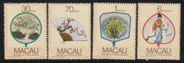 MACAO - N°547/550 ** (1987) Eventails Régionaux - Nuevos