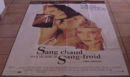 2 AFFICHES CINEMA ORIGINALES FILMS Richard GERE SANG CHAUD MEUTRE SANG FROID MISTER JONES BANCROFT - Posters