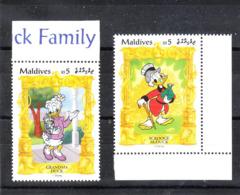 Maldive - 1990. Nonna Papera E Paperone. Grandma Duck And Scrooge McDuck. MNH - Disney