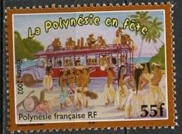 Polynésie Française - Polynesien - Polynesia 2002 Y&T N°680 - Michel N°881 *** - 55f Danseurs Et Autocar - Polynésie Française