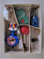 Boite Avec Trois Anciennes Boules De Noël  - C 23 - Decorative Items