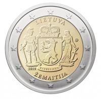 LITHUANIA 2 EURO 2019 - Žemaitija - UNC Quality - Lithuania