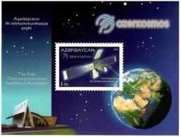 Azerbaijan 2013 . First Satelite Of Azerbaijan. S/S: 1m.   Michel # BL 122 - Azerbaiján