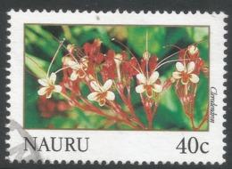 Nauru. 1991 Flowers. 40c Used. SG 396 - Nauru
