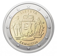 LITUANIE 2 Euro 2019 - Žemaitija - UNC - Lituanie