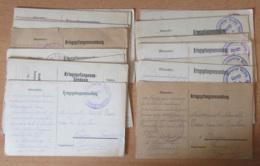 """Guerre 14-18 - Important Lot De 24 Correspondances """"Kriegsgefangenensendung"""" Circulés - Pour étude - Occupation 1914-18"""