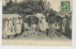 ETHNIQUES ET CULTURES - AFRIQUE DU NORD - SCENES ET TYPES - Une Halte (postée à SOUSSE - TUNISIE ) - Africa