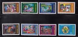 2003 Uganda  Millenium Development Goals Children Health Education Water Complete Set Of 8 MNH - Uganda (1962-...)