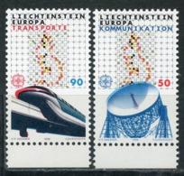 LIECHTENSTEIN 1988 937-938 EUROPA 1988 - Transport And Communications - Europa-CEPT