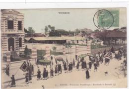 Asie - Tonkin - Hanoï - Procession Bouddhique - Etendards Et Parasols (4) - Viêt-Nam