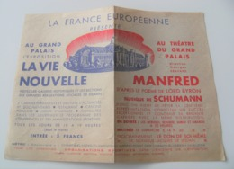 F.Lagoutte Métro Grand Palais Expo Manfred Georges Bravard Lord Byron Schumann - Programme