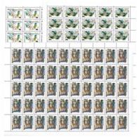 USSR Russia 1990 Sheet Of Owls Birds Animals Animal Fauna Owl Bird Nature Stamps MNH Mi 6063-6065 SG 6117-19 Sc 5871-73 - Owls
