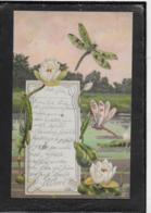 AK 0337  Seerosen Und Libellen - Künstlerkarte Um 1901 - Blumen
