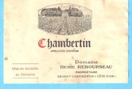 Etiquette-Vin De Bourgogne-Chambertin-Henri Rebourseau-Gevrey-Chambertin (Côte-D'Or) - Bourgogne