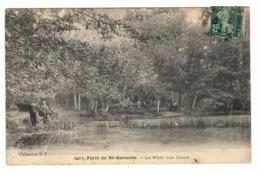 FORET DE ST GERMAIN - 78 - LA MARE AUX CANES -PECHEURS - St. Germain En Laye