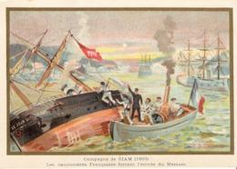 SIAM Meinam Thailande   Belle Image De 1894-1895 Illustration Germain - Army & War
