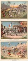 DAHOMEY Bénin Kana Abomey Dogba  3 Belles Images De 1894-1895 Illustrations Germain - Army & War