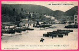 Gérardmer - Une Revue Dans La Cour De La Caserne - Le Défilé Du Régiment - Militaire - Photo HOMEYER Et EHRET - Gerardmer
