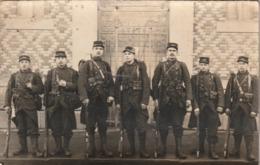 Très Rare Cpa-photo Groupe De Soldats En Armes Du 148 RI - 1914-18