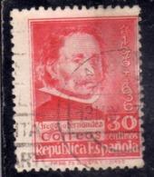 SPAIN ESPAÑA SPAGNA 1936 GREGORIO FERNANDEZ CENT. 30c USED USATO OBLITERE' - 1931-Aujourd'hui: II. République - ....Juan Carlos I