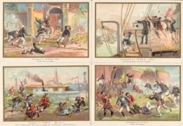 TONKIN Viet Nam Fou Tcheou Lang Kep Bac Ninh Canonnière Sontay 4 Belles Images De 1894-1895 Illustrations Germain - Army & War