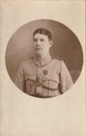 Rare Cpa-photo Soldat Du 321 Avec Croix De Guerre Et Citations Fourragère Et Chevrons - 1914-18
