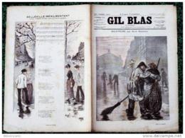 *GIL BLAS Illustré* N°9-23/08/1891 -BALAYEURS P/MAIZEROY +CHANS.BELLEVILLE-MENILMONTANT /A. BRUANT - Magazines - Before 1900