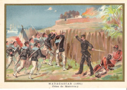MADAGASCAR Marovoay Belle Image De 1894-1895 Illustration Germain - Army & War