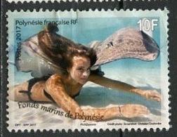 Polynésie Française - Polynesien - Polynesia 2017 Y&T N°1151 - Michel N°(?) (o) - 10f Fonds Marins - Polynésie Française