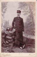 CONGO Soldat Force Etat Indépendant Photo RANSART Ed. ANDRE, Photo CDV Format Cabinet Vers 1900 - Anciennes (Av. 1900)