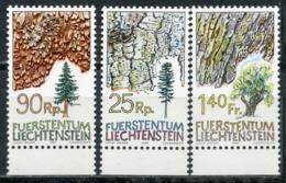 LIECHTENSTEIN 1986 913-915 Trees. Flora. Plants - Trees