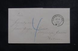 ALLEMAGNE - Lettre De Oberwesel En 1864 Pour Hannover - L 44358 - Deutschland