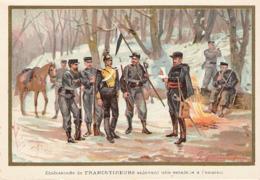 Embuscade De Francs Tireurs Enlevant Une Estafette à L'ennemi  Belle Image De 1894-1895 Illustration Germain - Army & War