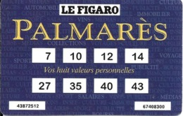 CARTE-JEU 1996-PALMARES-TF1-LE FIGARO-BE-RARE - Tarjetas De Fidelización Y De Regalo