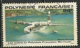 Polynésie Française - Polynesien - Polynesia Poste Aérienne 1979 Y&T N°PA148 - Michel N°296 (o) - 24f Hydravion Bermuda - Poste Aérienne