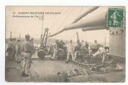 Militaires Marine Militaire Francaise Embarquement Du Vin - Personnages