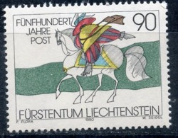 LIECHTENSTEIN 1990 1004 500th Anniversary Of Mail In Europe. Mail History. Horses - Correo Postal