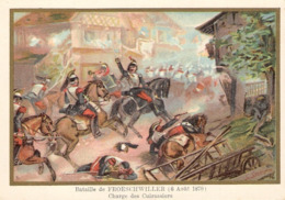 Bataille De FROESCHWILLER  Cuirassiers Belle Image De 1894-1895 Illustration Germain - Army & War